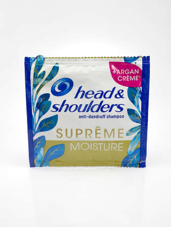 MANILA, PH - JUNE 23 - Head and shoulders shampoo sachet on June 23, 2020 in Manila, Philippines.