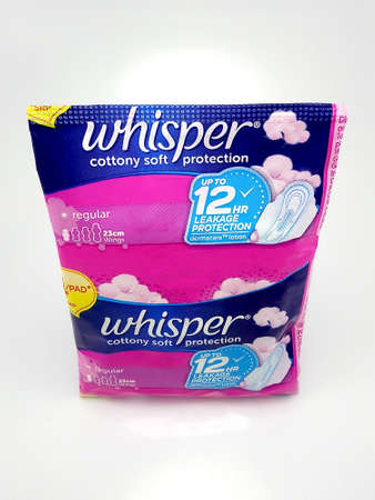 MANILA, PH - JUNE 23 - Whisper cottony soft protection menstrual pad on June 23, 2020 in Manila, Philippines.