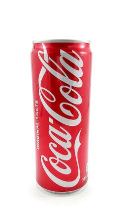 MANILA, PH - JUNE 23 - Coca Cola coke original taste can on June 23, 2020 in Manila, Philippines.