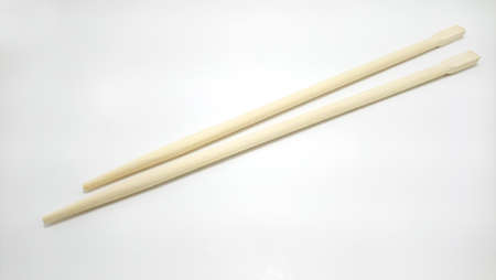 Chinese brown wooden chopsticks use as eating utensil