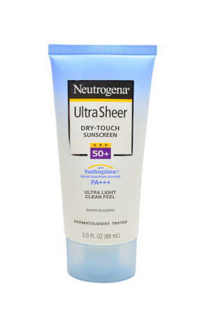 QUEZON CITY, PH - JULY 8 - Neutrogena ultra sheer dry touch sunscreen on July 8, 2020 in Quezon City, Philippines.