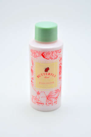 QUEZON CITY, PH - JULY 8 - James and baker butterfly finest body lotion peony and geranium on July 8, 2020 in Quezon City, Philippines.