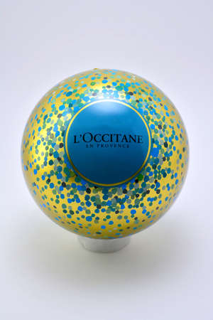 QUEZON CITY, PH - JULY 8 - Loccitane metal sphere ball on July 8, 2020 in Quezon City, Philippines. Editorial