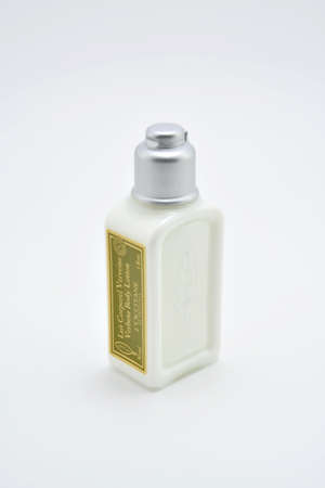 QUEZON CITY, PH - JULY 8 - Loccitane body lotion on July 8, 2020 in Quezon City, Philippines.