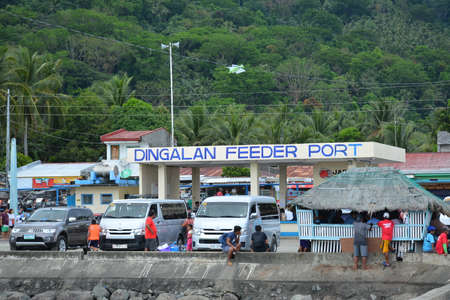 AURORA, PH - APRIL 21 - Dingalan feeder port facade on April 21, 2019 in Aurora, Philippines. Éditoriale
