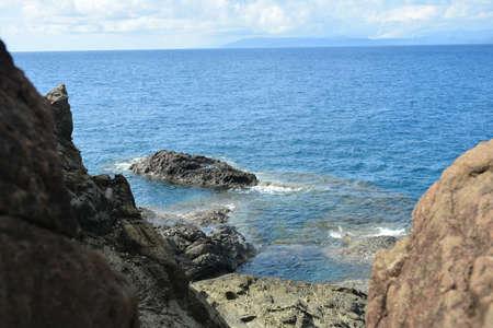Danao beach resort rock formation and sea water in Dingalan, Aurora, Philippines Stock fotó