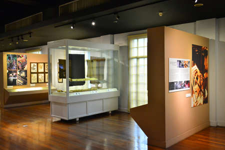 MANILA, PH - JULY 8 - National museum of Anthropology Philippine textile section on July 8, 2018 in Manila, Philippines.