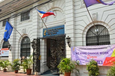 MANILA, PH - APR 7 - National commission for culture and the arts building facade at Intramuros on April 7, 2019 in Manila, Philippines.