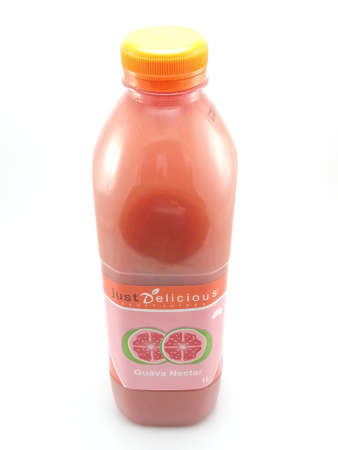 MANILA, PH - SEPT 25 - Just delicious guava nectar juice on September 25, 2020 in Manila, Philippines. Editorial