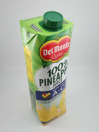 MANILA, PH - OCT 27 - Del monte pineapple juice on October 27, 2020 in Manila, Philippines.
