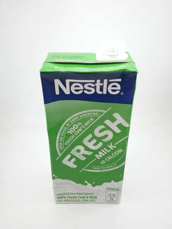 MANILA, PH - OCT 27 - Nestle fresh milk on October 27, 2020 in Manila, Philippines.