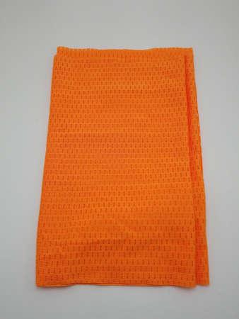 Orange cool body towel fabric