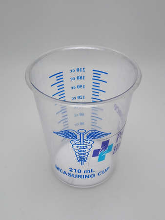 MANILA, PH - NOV 11 - Providence hospital measuring cup on November 11, 2020 in Manila, Philippines.