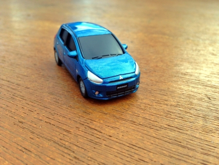 a mirage: Mitsubishi Mirage toy car