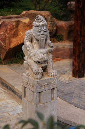 A stone carving,totem,Wuhan city,China photo