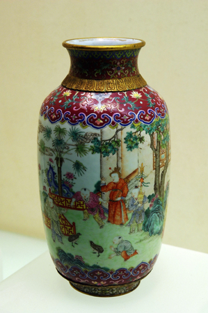 Beautiful Chinese antique vase Hubei Province museum,China