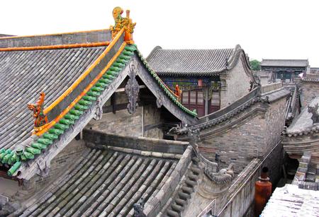 antyk: Starożytność dach w Pingyao Town, w Chinach