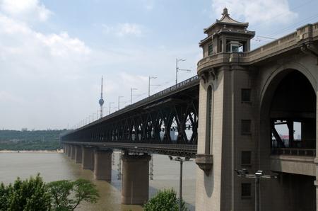 yangtze river: Yangtze River Bridge at Wuhan, Hubei province,China