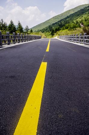 Beautiful view of the asphalt road  photo