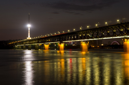 yangtze river bridge in Wuhan, China photo