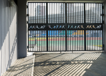 the gate of stadium