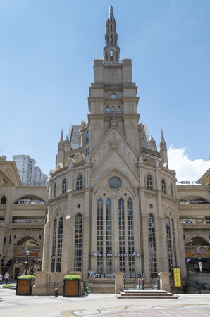simulations: Duomo Church on Guanggu Street, Wuhan City, Hubei Province