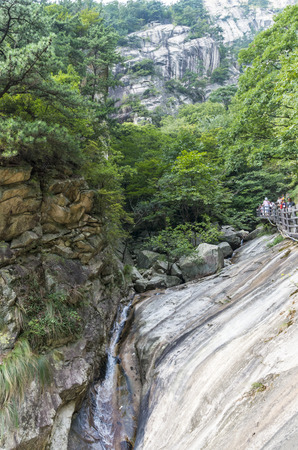 hubei province: Paradise Canyon in the dabie mountains in Hubei Province