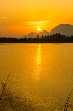 hubei province: Dawn of the Xiandao Lake,Hubei province Stock Photo