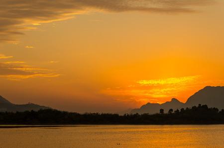 hubei province: Sunrise of Xiandao Lake,Hubei province