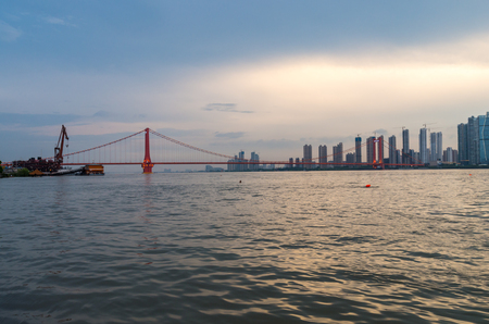 yangtze river: The Yangtze River at dusk