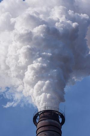 A white smokestack Фото со стока - 101180110