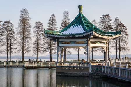 A Chinese Pavilion on the lake
