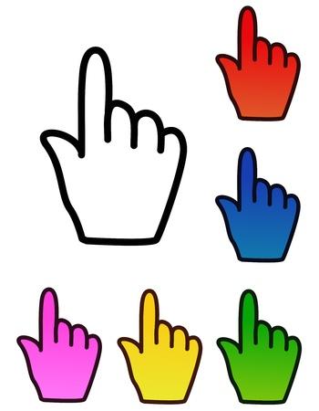 cursors: Vector hand cursors
