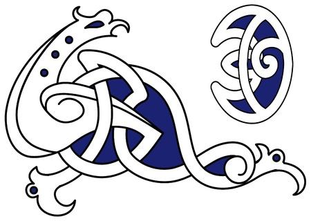 Vector illustration of a celtic bird Stock Vector - 9589255
