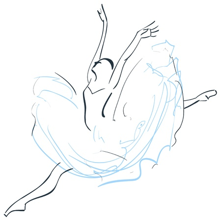 flexible girl: Illustration of ballerina