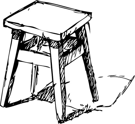 illustration of Sketchy Chair Illustration
