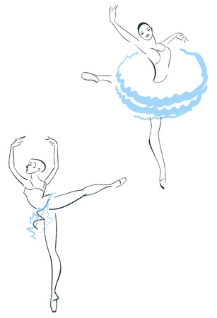 performing arts event: Illustration of Two ballerinas