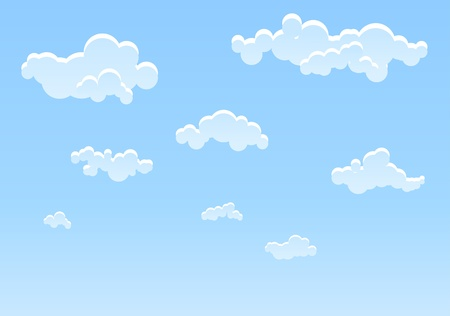 Illustration of Blue sky background Vector