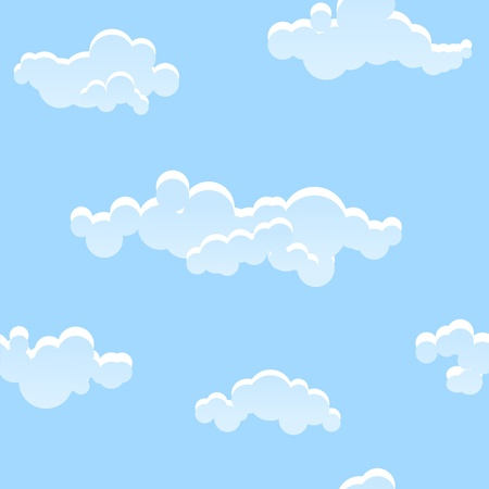 Seamless pattern of the blue sky Illustration