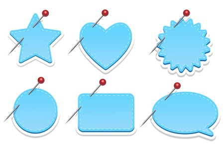 Various Blue web elements Vector
