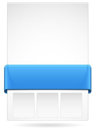 Blue Web page layout
