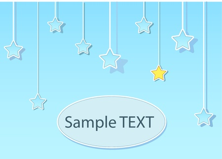 Stars blue background with text input area