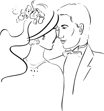Illustration of a Romantic Couple