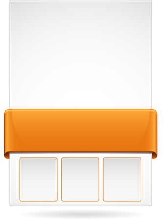 Orange web page layout Illustration