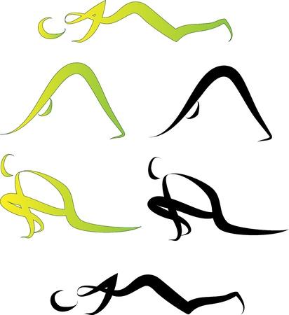 shiva: Illustration de postures de yoga Illustration