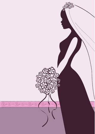 Vector Illustration of a beautiful Bride Vector