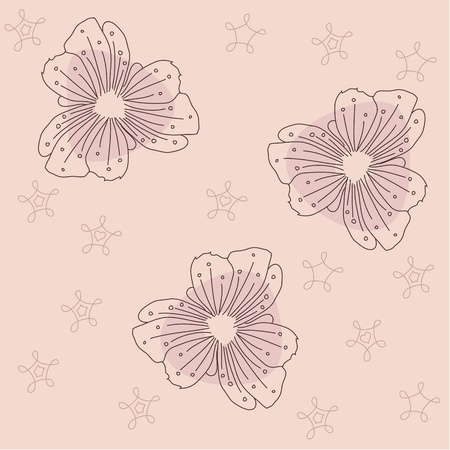 Seamless Vector Flowers Background Illustration