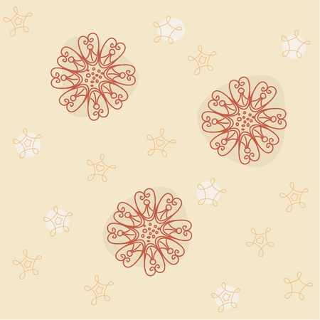 Seamless Vector Flowers Background Vector
