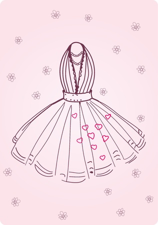 Vector Illustration of nice Party Dress Illustration