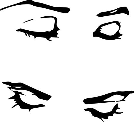 Sketchy eyes